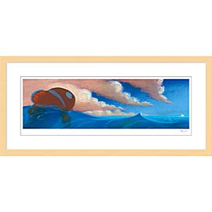 """Finding Nemo """"Sequence Pastel: Drop Off"""" Framed Giclée on Paper by Ralph Eggleston – Limited Edition"""