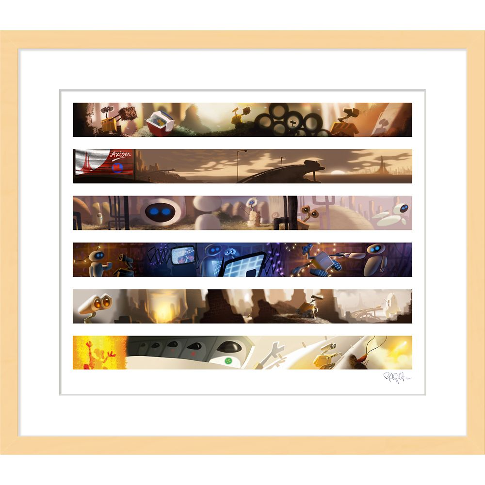 ''Wall•E Colorscript'' Framed Giclée on Paper by Ralph Eggleston – Limited Edition