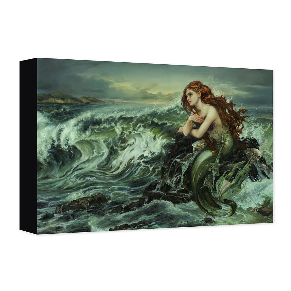 Ariel ''Drawn to the Shore'' Gicle on Canvas by Heather Edwards Official shopDisney