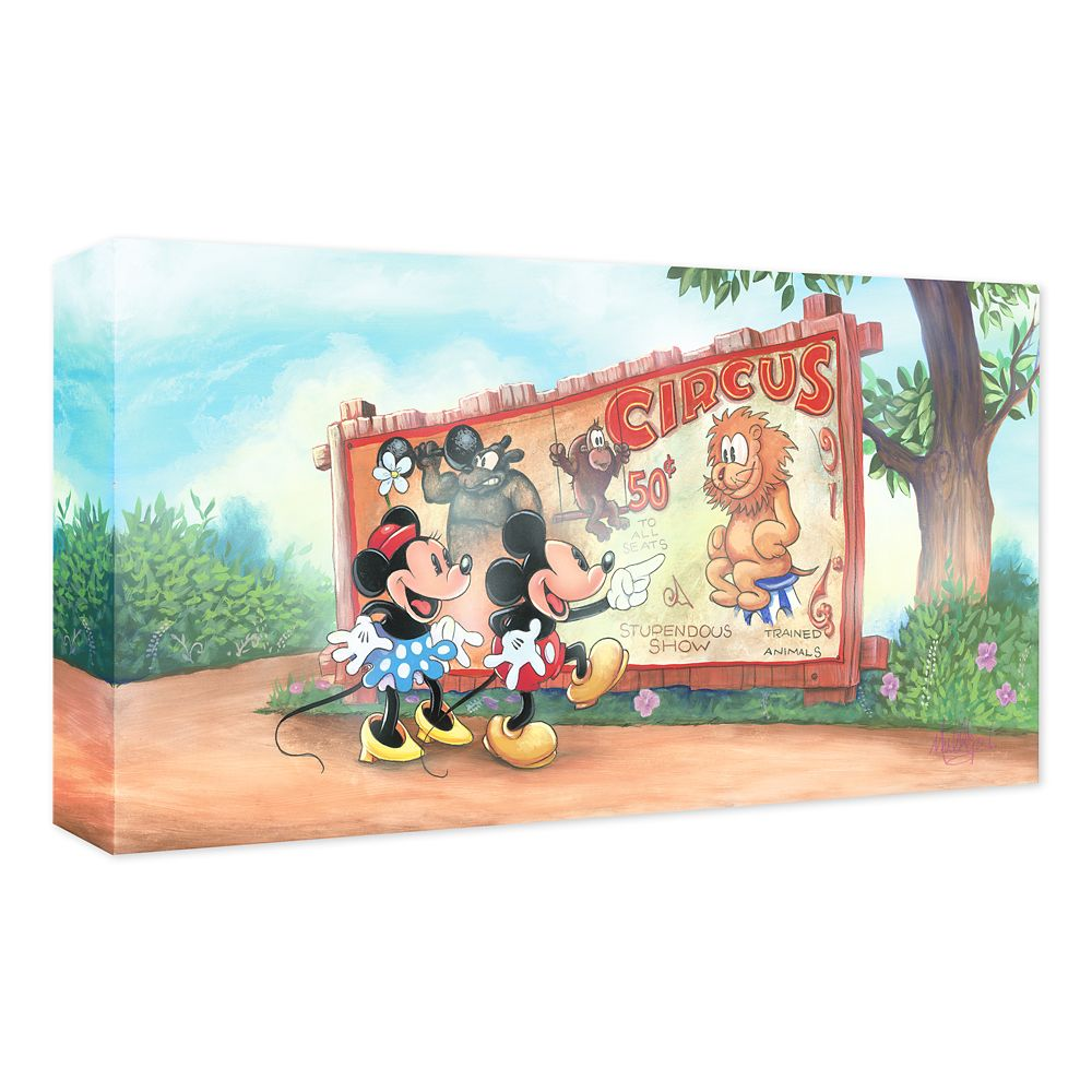 Mickey and Minnie Mouse ''Mickey's Big Top Date'' Gicle on Canvas by James C. Mulligan Official shopDisney