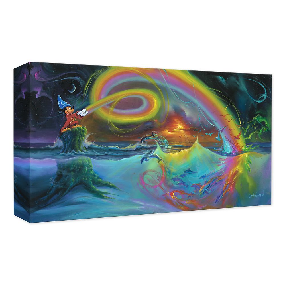 Sorcerer Mickey Mouse ''Mickey's Magical Colors'' Giclée on Canvas by Jim Warren