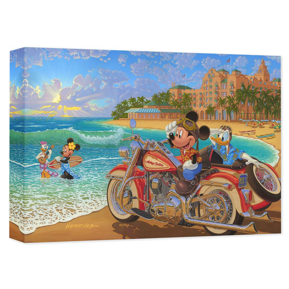 Mickey Mouse and Friends ''Where the Road Meets the Sea'' Gicle on Canvas by Manuel Hernandez Official shopDisney