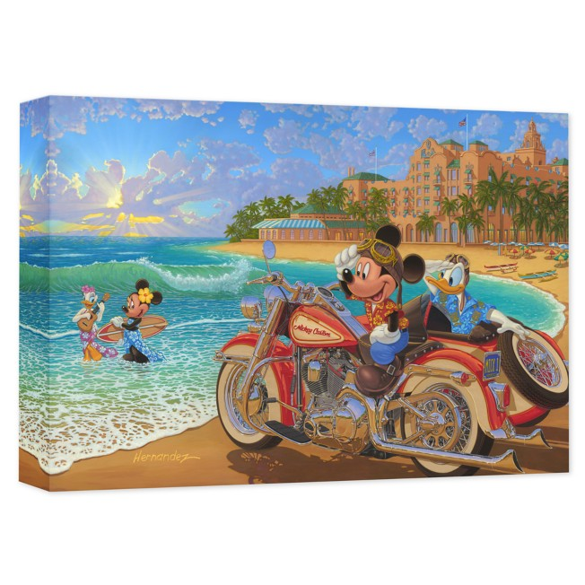 Mickey Mouse and Friends ''Where the Road Meets the Sea'' Giclée on Canvas by Manuel Hernandez
