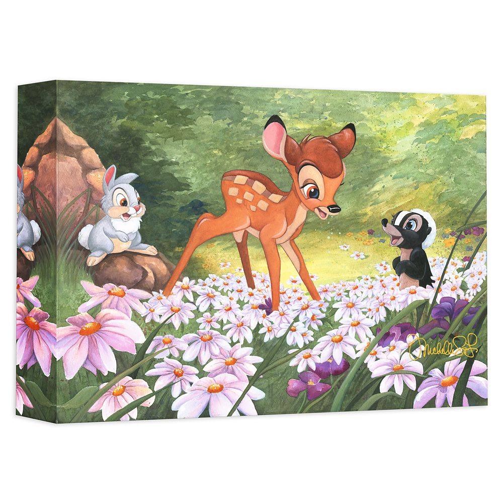 Bambi ''The Joy a Flower Brings'' Giclée on Canvas by Michelle St. Laurent