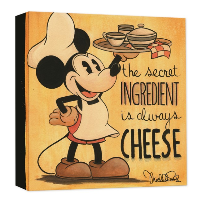 Mickey Mouse ''The Secret Ingredient'' Giclée on Canvas by Michelle St. Laurent