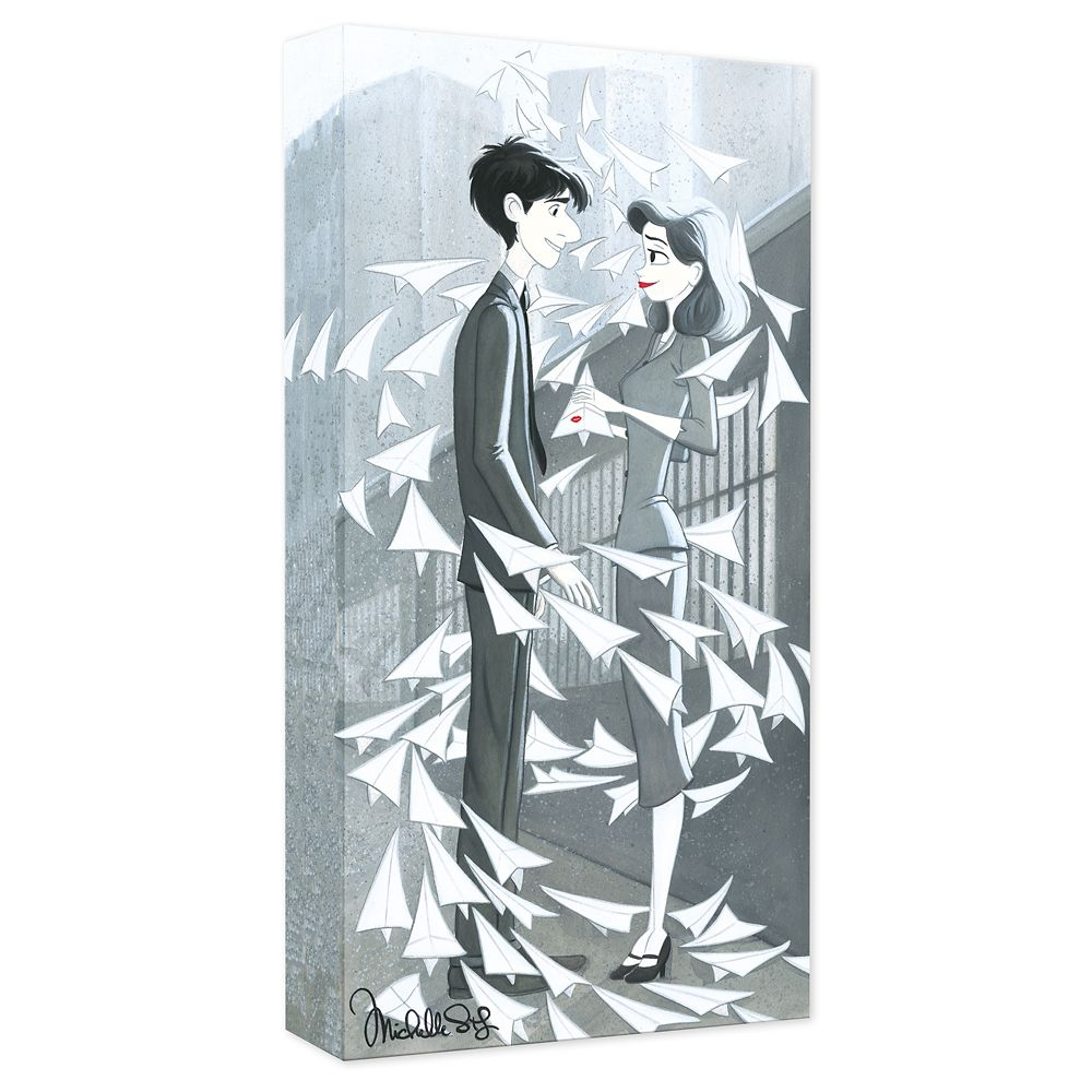 Paperman ''And Then There Was You'' Gicle on Canvas by Michelle St. Laurent Official shopDisney