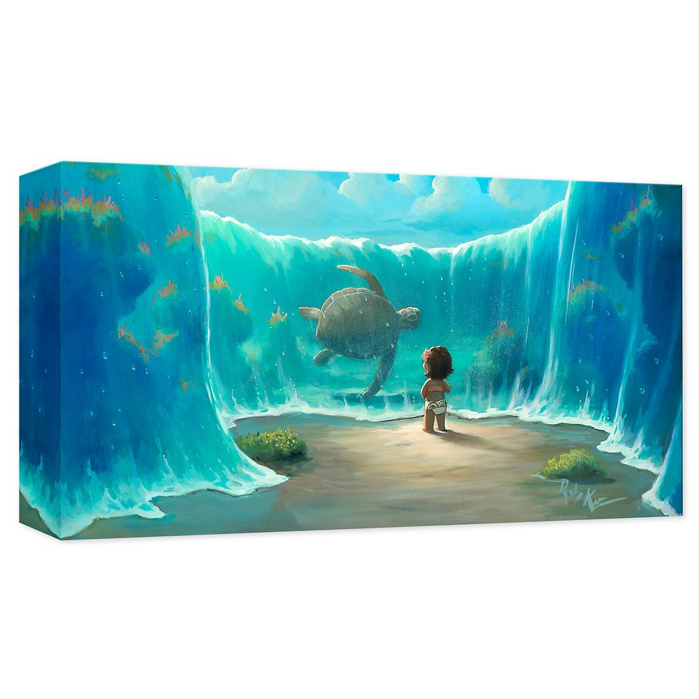 ''Moana's New Friend'' Giclée on Canvas by Rob Kaz