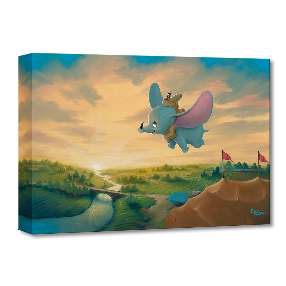 Dumbo ''Flight Over the Big Top'' Giclée on Canvas by Rob Kaz