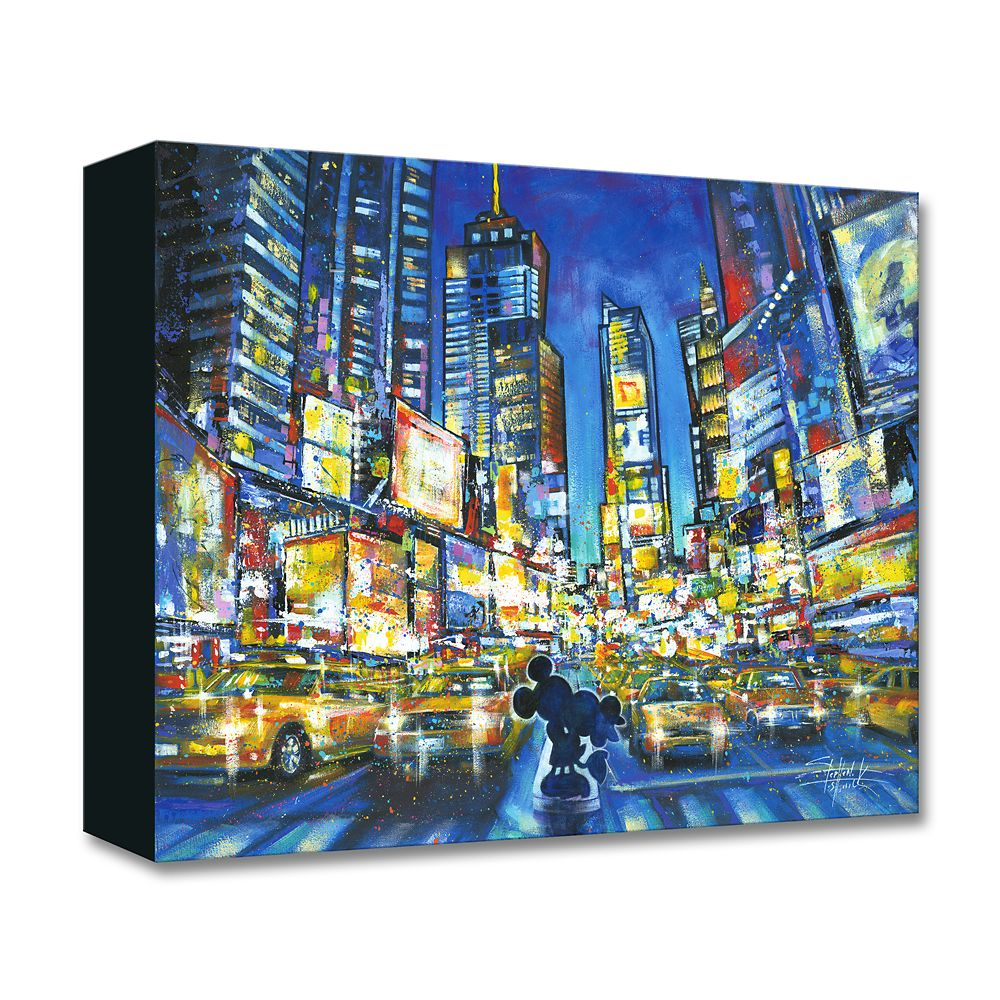 Mickey and Minnie Mouse ''You, Me, and the City'' Giclée on Canvas by Stephen Fishwick
