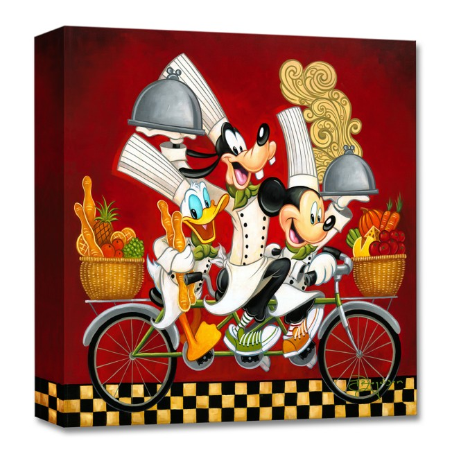 Mickey Mouse and Friends ''Wheeling with Flavor'' Giclée on Canvas by Tim Rogerson