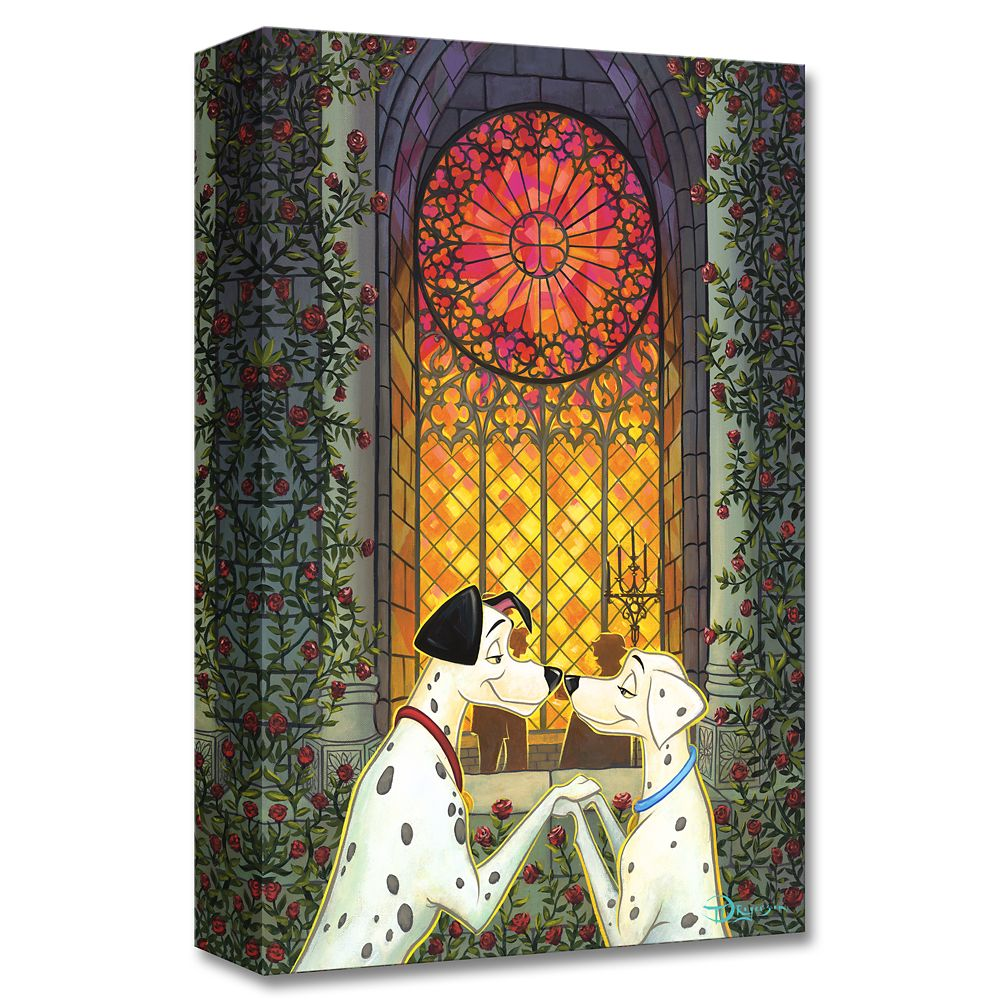 Pongo and Perdita ''101 Roses'' Giclée on Canvas by Tim Rogerson