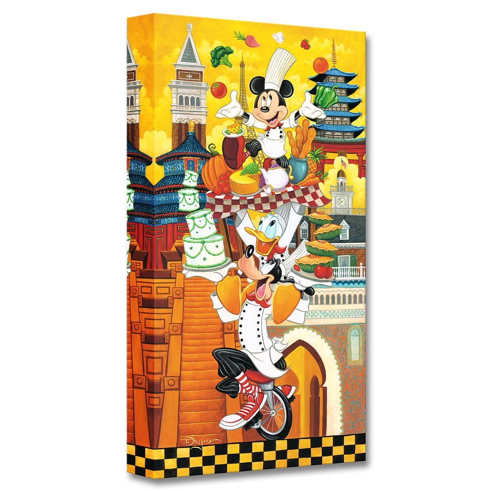 Mickey Mouse and Friends ''A World of Flavor'' Giclée on Canvas by Tim Rogerson