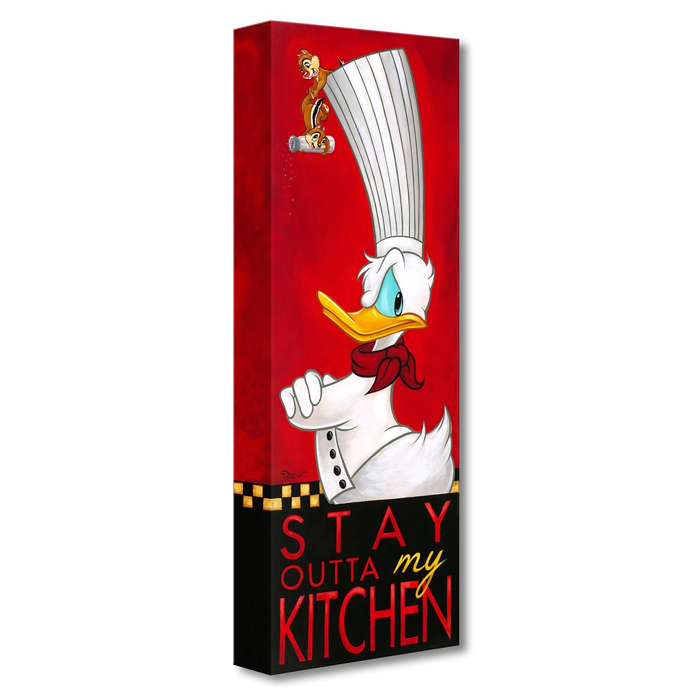 Donald Duck ''Stay Outta My Kitchen'' Giclée on Canvas by Tim Rogerson