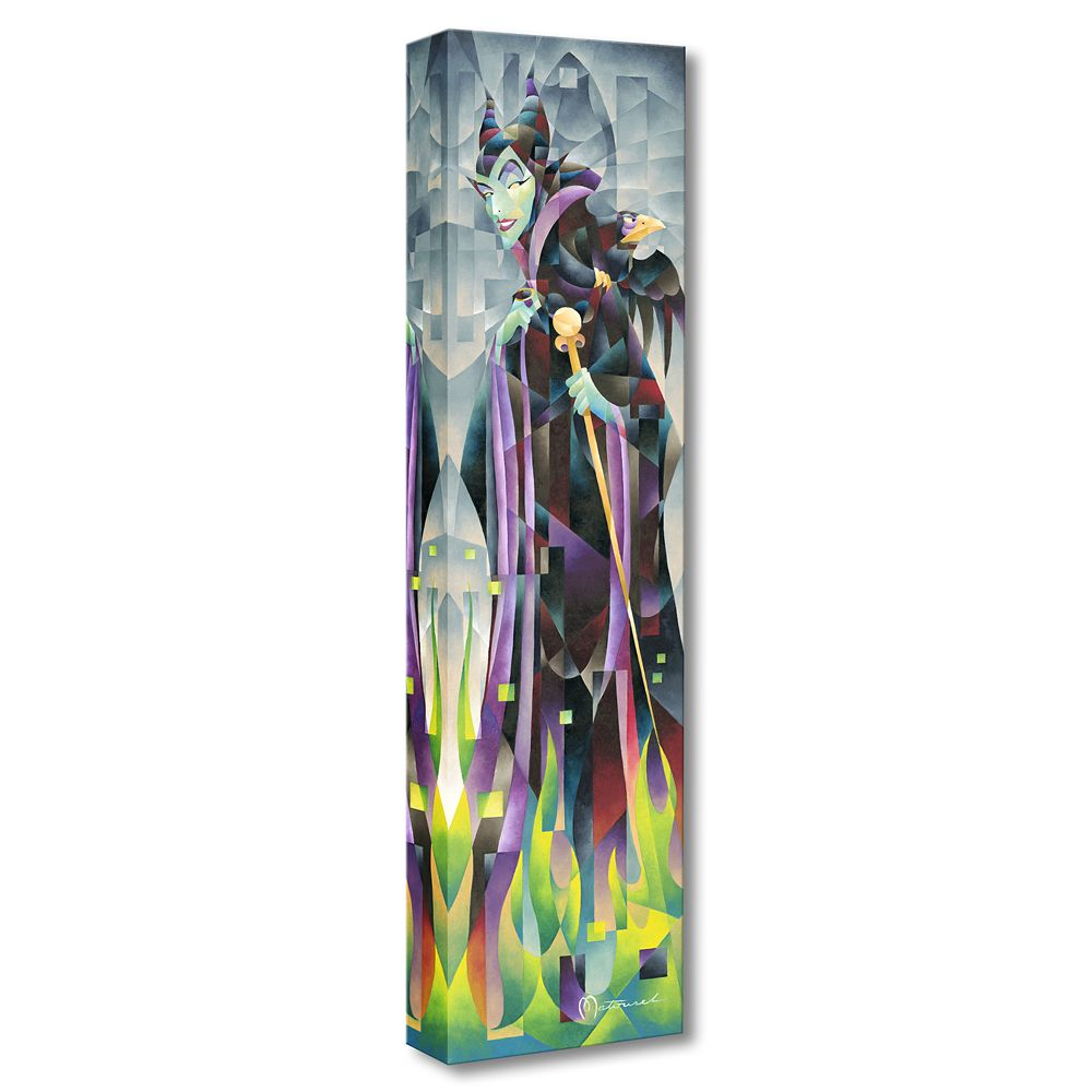 Maleficent ''Flames of Maleficent'' Giclée on Canvas by Tom Matousek Official shopDisney