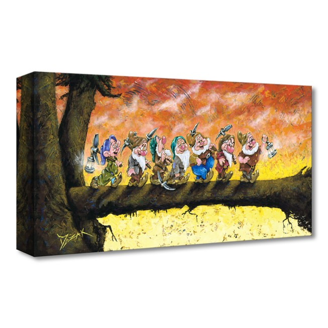 Snow White and the Seven Dwarfs ''Back To Home We Go'' Giclée on Canvas by Trevor Mezak