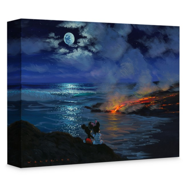 Mickey and Minnie Mouse ''Watching Nature's Creation'' Giclée on Canvas by Walfrido Garcia
