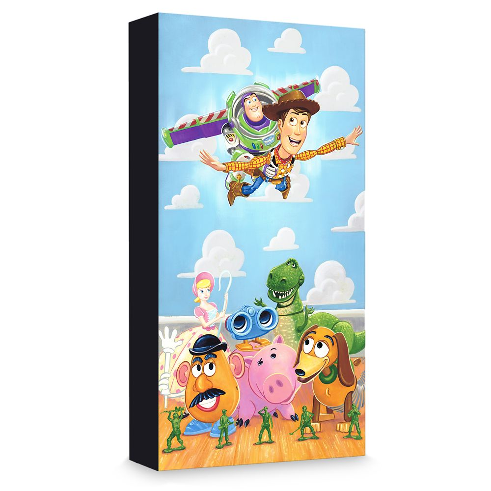 ''The Original Toys'' Giclée on Canvas by Tim Rogerson  Limited Edition Official shopDisney