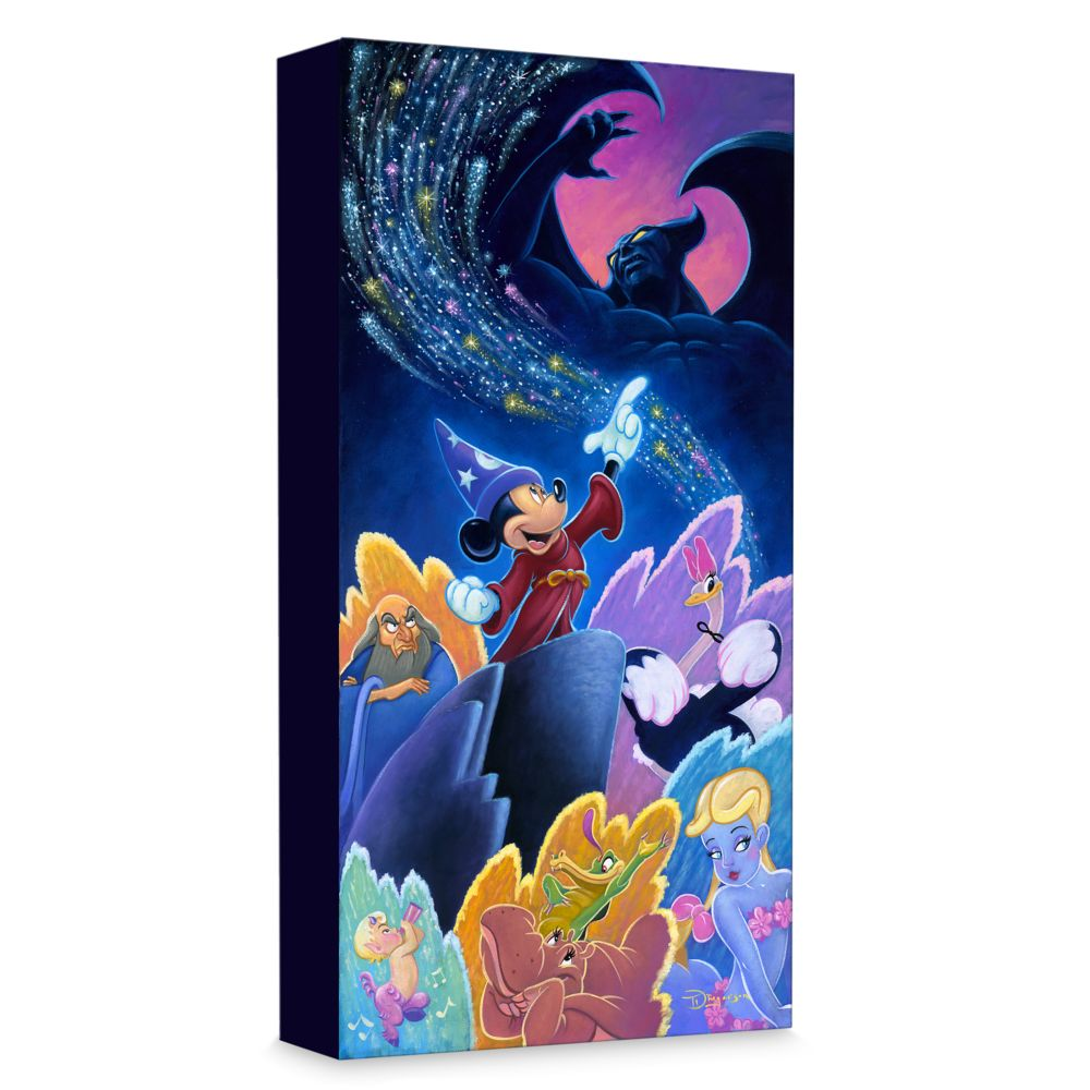 Sorcerer Mickey Mouse ''Splashes of Fantasia'' Giclée on Canvas by Tim Rogerson