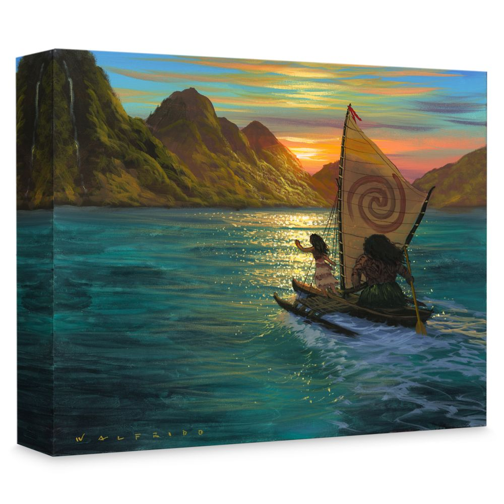 Moana ''Sailing into the Sun'' Giclée on Canvas by Walfrido Garcia