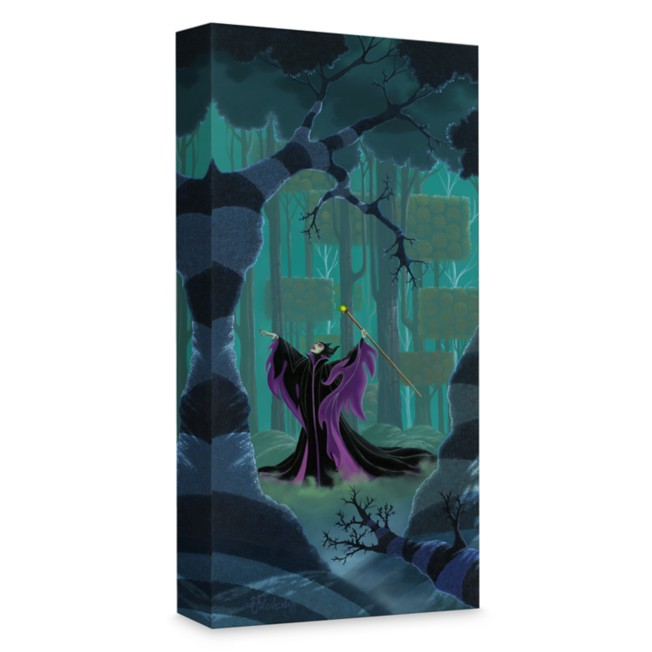 ''Maleficent Summons the Power'' Giclée on Canvas by Michael Provenza