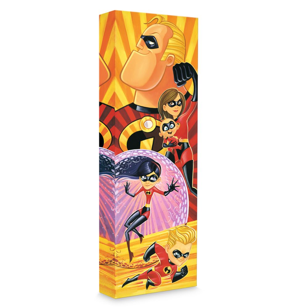 Incredibles ''Incredibles to the Rescue'' Giclée on Canvas by Tim Rogerson Official shopDisney