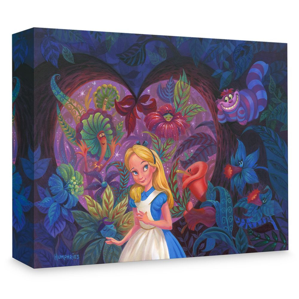 "Alice in Wonderland ""In the Heart of Wonderland"" Gicle on Canvas by Michael Humphries Official shopDisney"