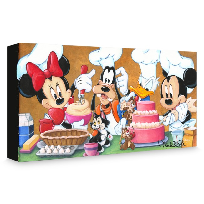 Mickey Mouse and Friends ''Happy Kitchen'' Giclée on Canvas by Michelle St. Laurent