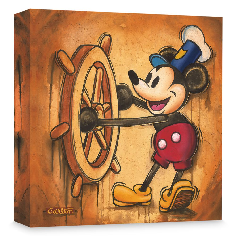 Mickey Mouse ''Happy Skipper'' Giclée on Canvas by Trevor Carlton