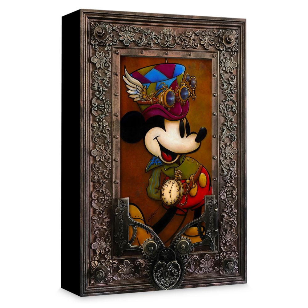 Mickey Mouse ''Mickey Through the Gears'' Giclée on Canvas by Krystiano DaCosta