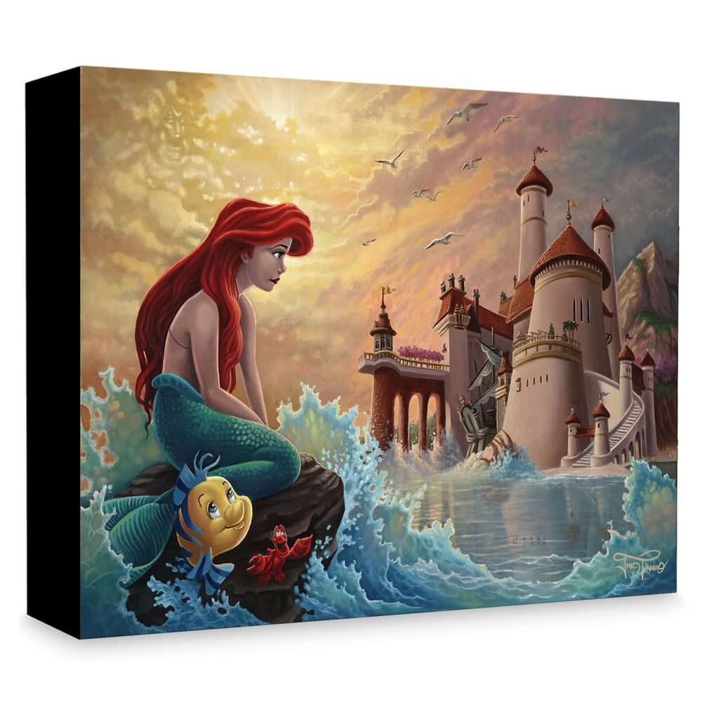 The Little Mermaid ''Ariel's Daydream'' Giclée on Canvas by Jared Franco