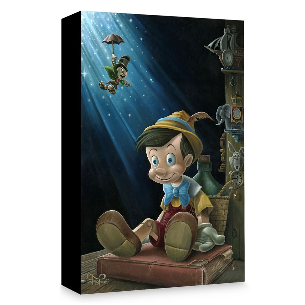 Pinocchio ''The Little Wooden Boy'' Giclée on Canvas by Jared Franco Official shopDisney