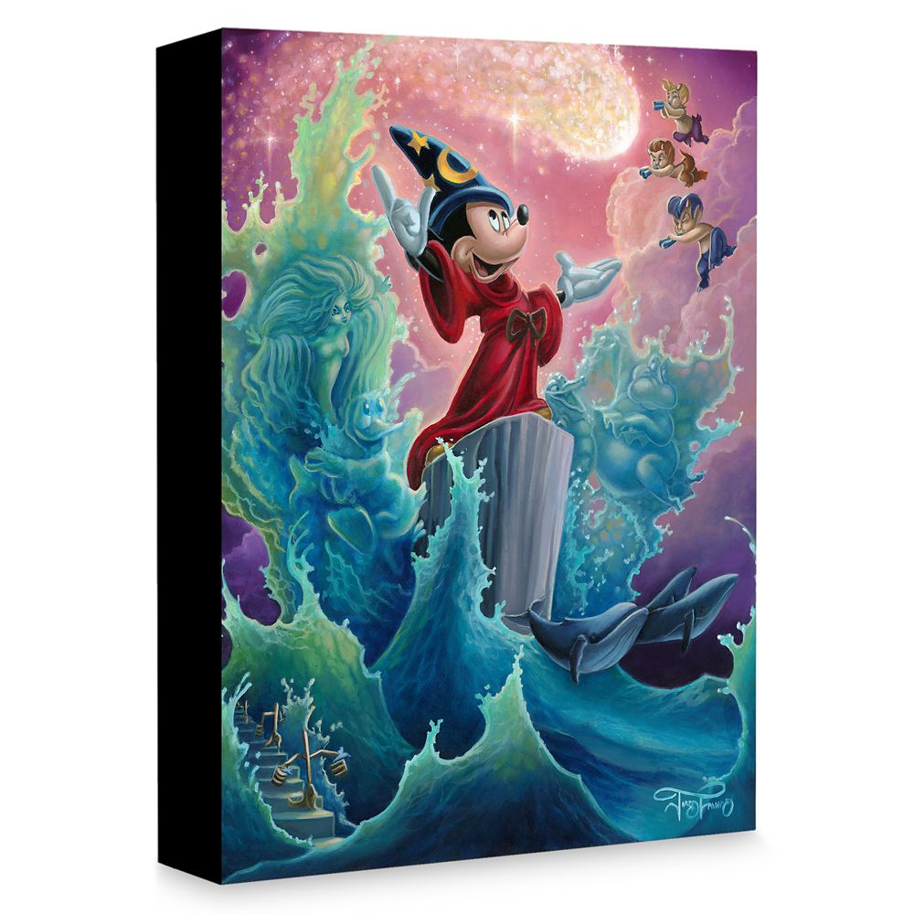 Sorcerer Mickey Mouse ''The Sorcerer's Finale'' Giclée on Canvas by Jared Franco