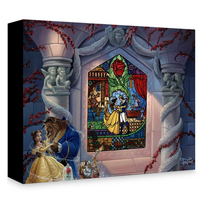 Beauty and the Beast ''Enchanted Love'' Giclée on Canvas by Jared Franco