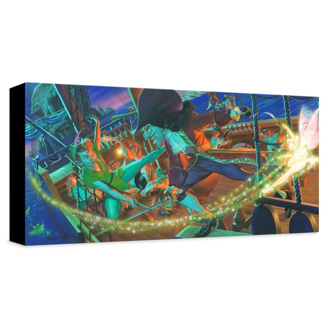 Peter Pan ''Clash for Neverland'' Giclée on Canvas by Alex Ross – Limited Edition