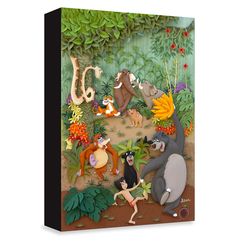 Jungle Book ''Jungle Jamboree'' Giclée on Canvas by Karin Arruda – Limited Edition