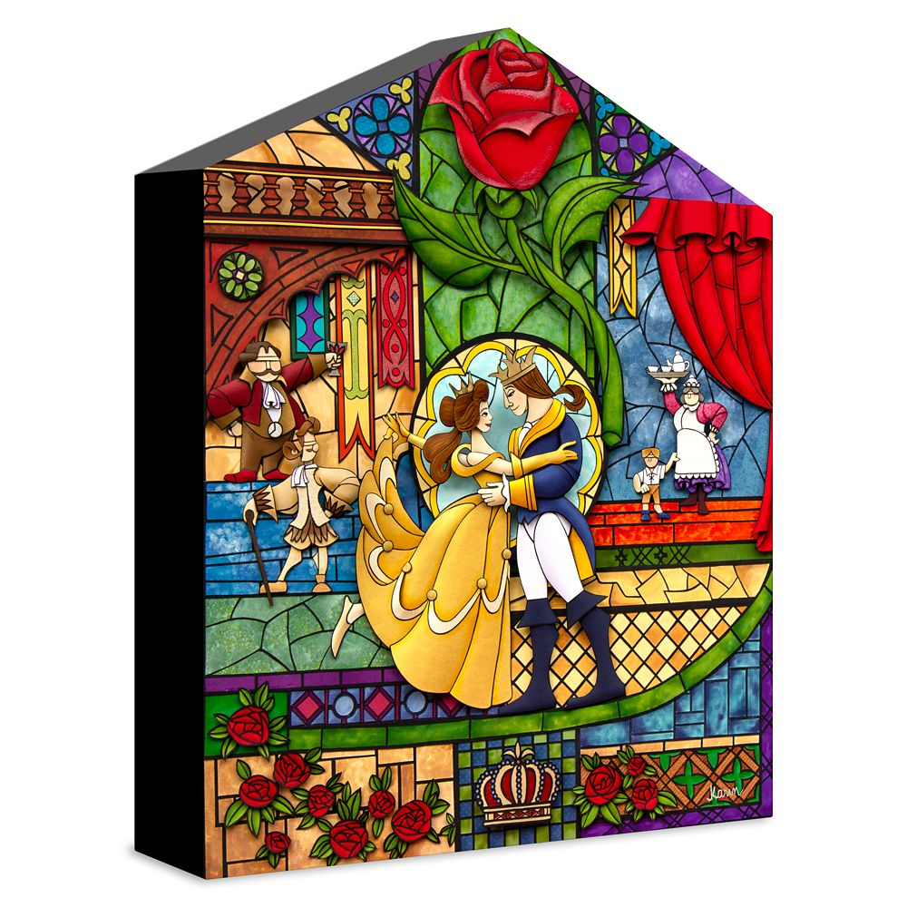 Beauty and the Beast ''Our Fairytale'' Giclée on Canvas by Karin Arruda – Limited Edition