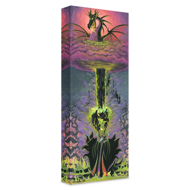 ''Maleficent's Transformation'' Giclée on Canvas by Michelle St.Laurent – Limited Edition