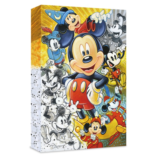 ''90 Years of Mickey Mouse'' Giclée on Canvas by Tim Rogerson – Limited Edition