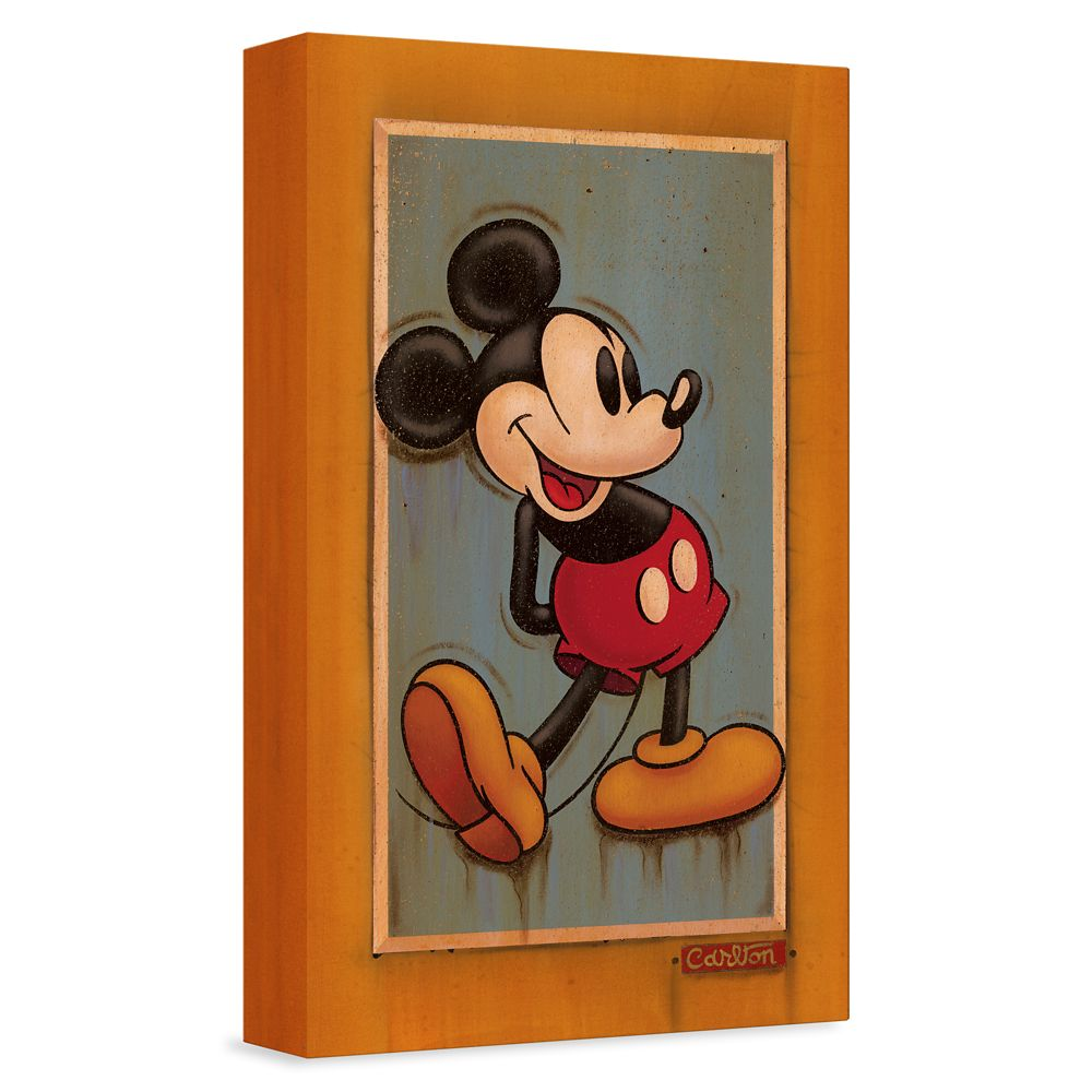 ''Vintage Mickey'' Giclée on Canvas by Trevor Carlton – Limited Edition