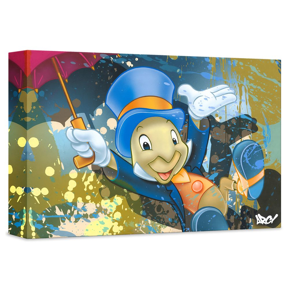 ''Jiminy Cricket'' Giclée on Canvas by ARCY – Limited Edition