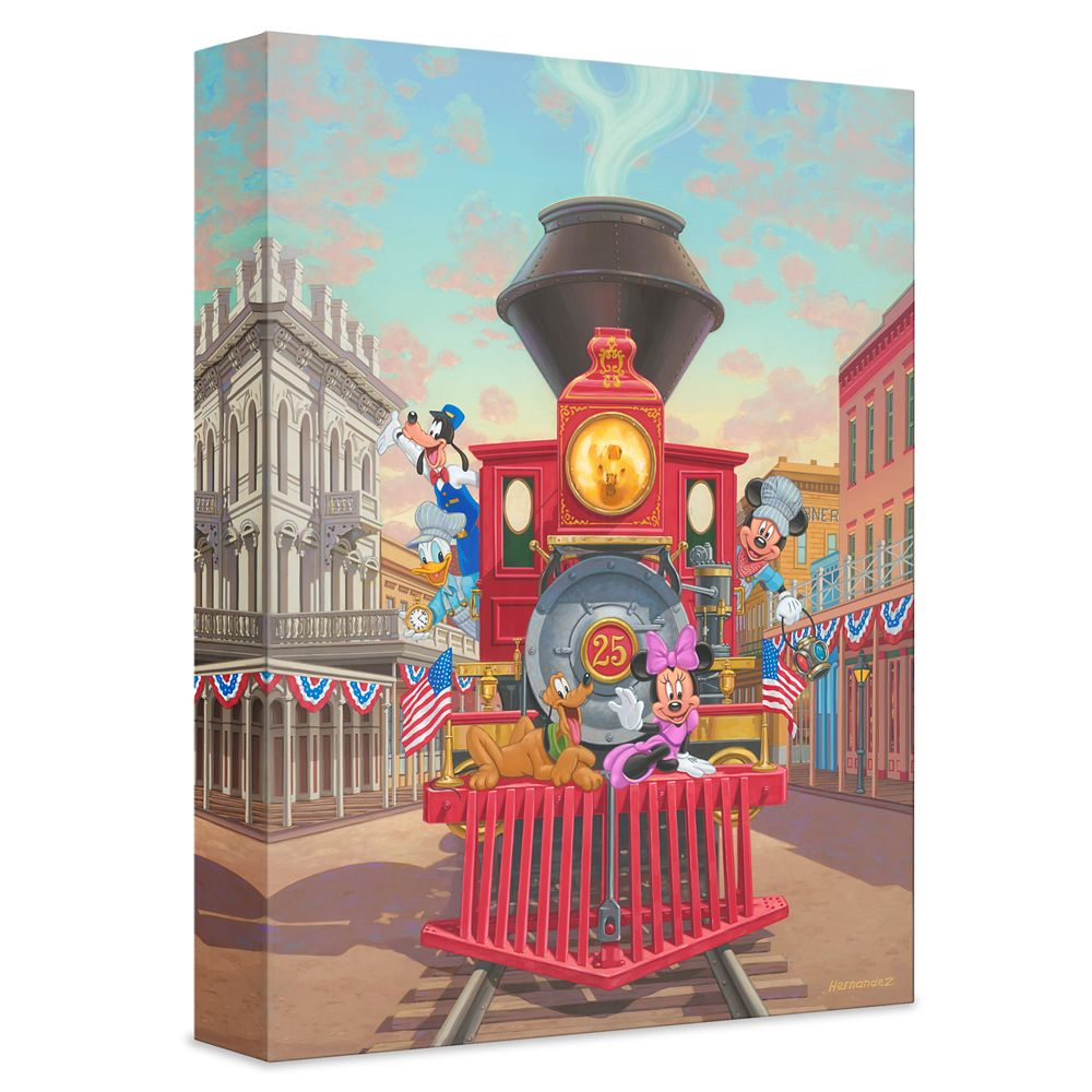 ''All Aboard Engine 25'' Giclée on Canvas by Manuel Hernandez – Limited Edition