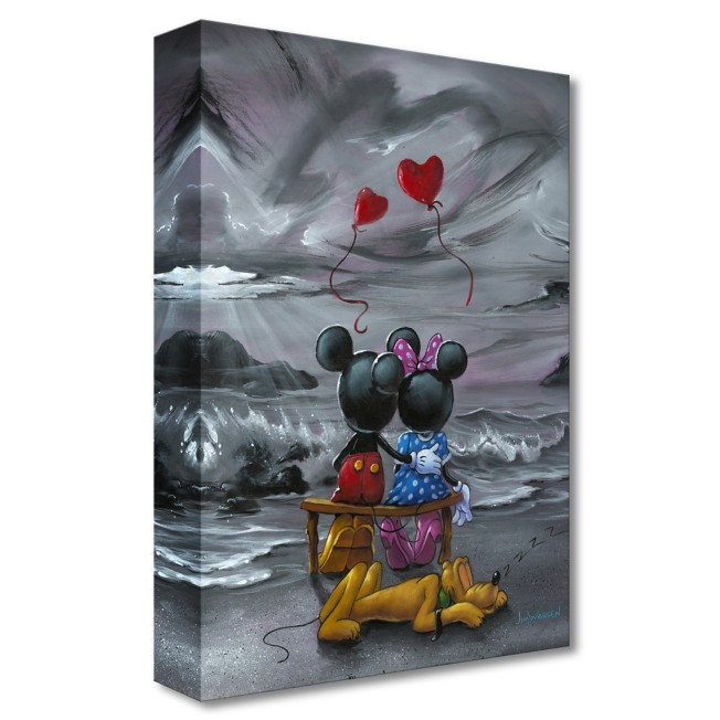 Mickey and Minnie Mouse ''Mickey and Minnie Forever Love'' Giclée on Canvas by Jim Warren – Limited Edition