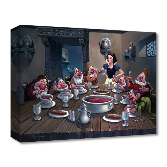 Snow White and the Seven Dwarfs ''Soup for Seven'' Giclée on Canvas by Rodel Gonzalez – Limited Edition