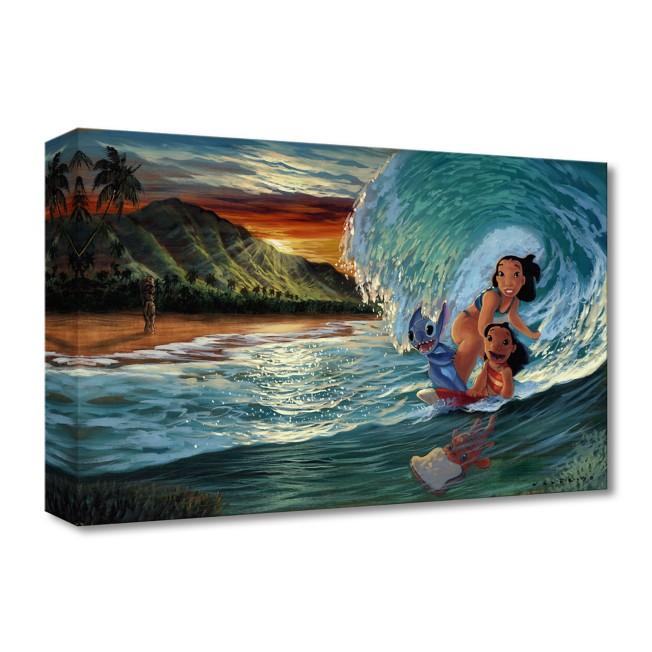Lilo & Stitch ''Morning Surf'' Giclée on Canvas by Walfrido Garcia – Limited Edition