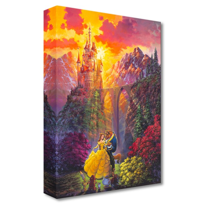 Beauty and the Beast ''Spring Dance'' Giclée on Canvas by Rodel Gonzalez – Limited Edition