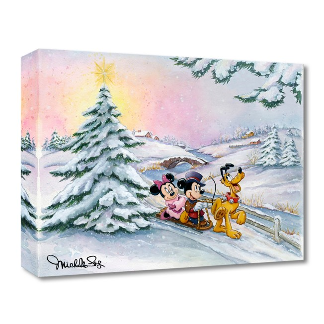 Mickey Mouse and Friends ''Winter Sleigh Ride'' Art by Michelle St.Laurent – Limited Edition