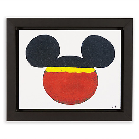 Mickey Mouse ''Color Block Mickey'' Framed Giclée on Canvas by Ethan Allen