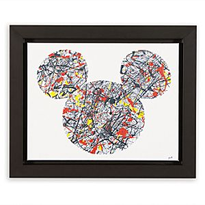 "Mickey Mouse ""Drip Paint Mickey"" Framed Giclée on Canvas by Ethan Allen"