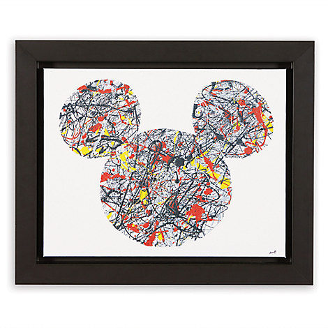 Mickey Mouse ''Drip Paint Mickey'' Framed Giclée on Canvas by Ethan Allen