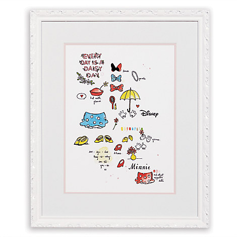 Minnie Mouse ''Minnie Wardrobe Study'' Framed Giclée on Paper by Ethan Allen
